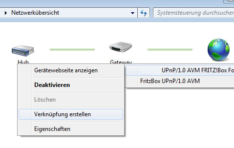 Windows7 Gateway anzeigen
