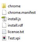 Test.xpi Datei