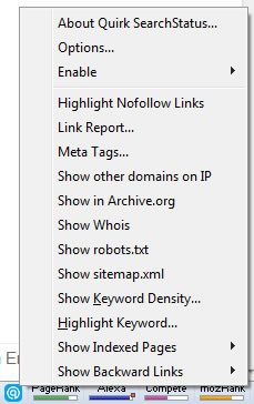 Firefox Add-on: SearchStatus