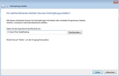Windows Verknüpfung erstellen