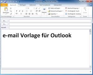 e-mail Vorlage für Outlook