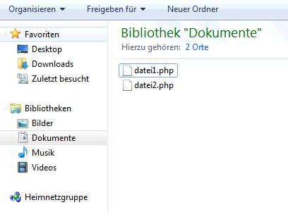 Zwei unterschiedliche php Dateien