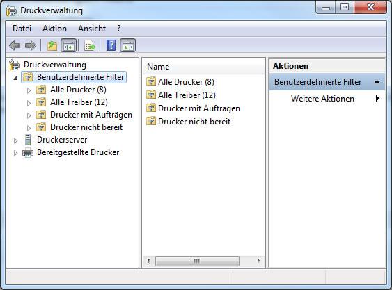 Windows Druckverwaltung
