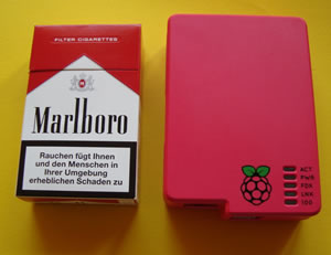 Raspberry Pi die Größe im Vergleich