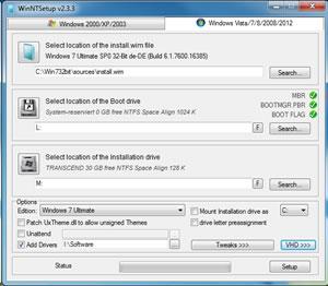 Windows7 auf einen USB Stick installieren