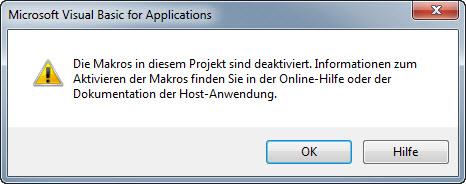 Outlook Makros deaktiviert