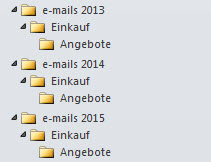Outlook Ordnerstruktur kopieren