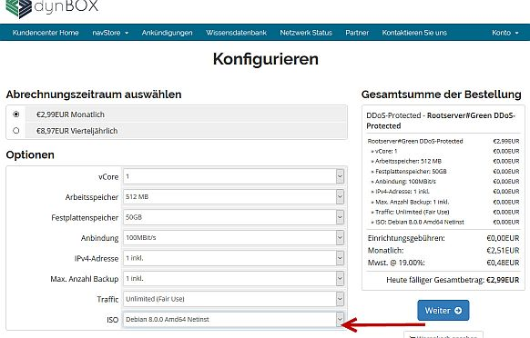 Auswahl ISO-Datei