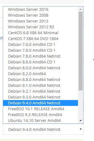 Auswahl-ISO Debian 9x
