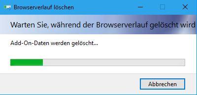 Browserverlauf löschen