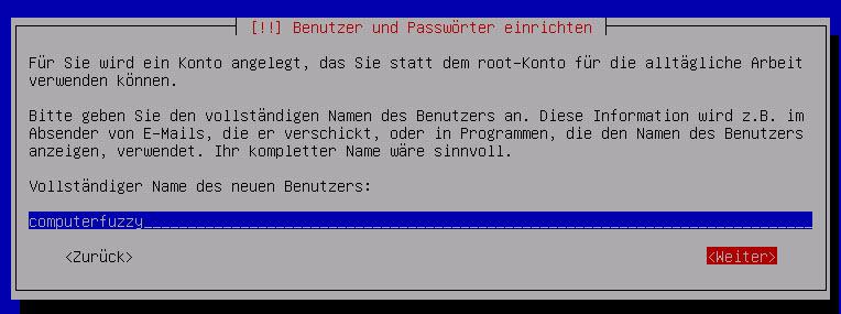 Debian Server Benutzer anlegen