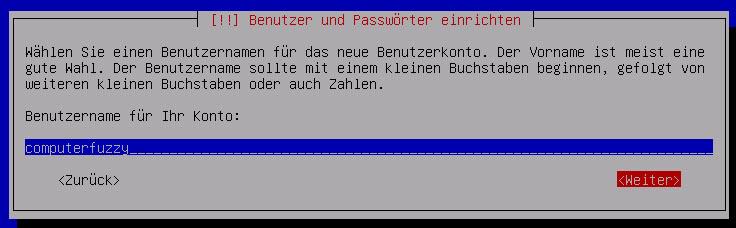 Debian Server Benutzer bestaetigen