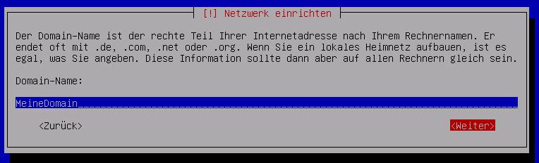 Debian Server Domain Namen vergeben