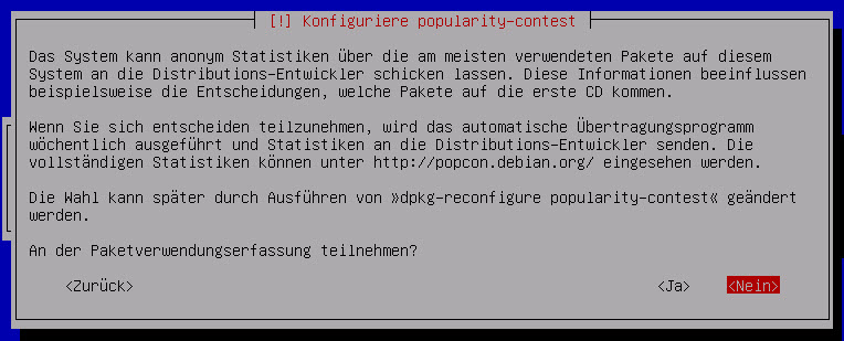 Debian Server Paketerfassung