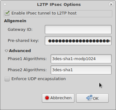 Debian L2TP IPsec Options
