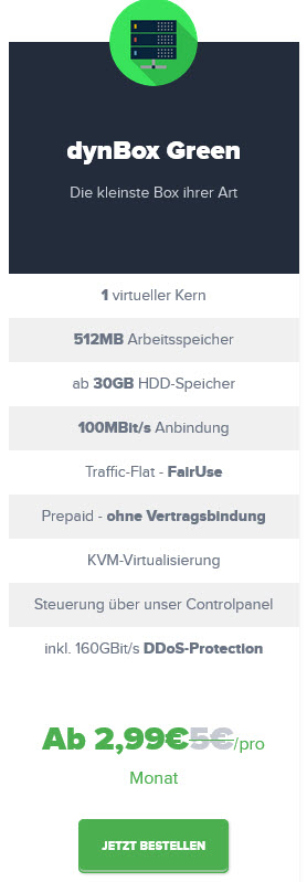 Paketauswahl VPN-Server