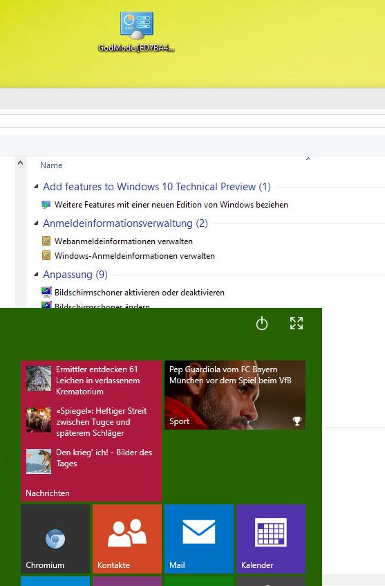 Windows10 Godmode