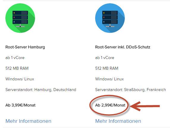 dynBOX Serverauswahl